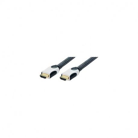Cordon HDMI 1.4 Type A Male/Male Tressé 1m20 Erard 727859